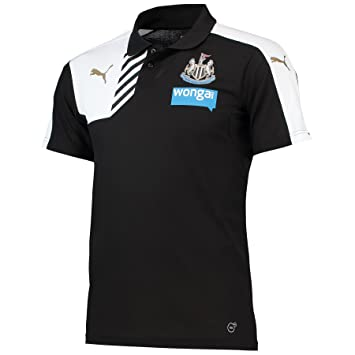 Puma 2015-2016 Newcastle Leisure Polo Football Soccer T-Shirt Camiseta  (Black)  Amazon.es  Deportes y aire libre 954a09282110e