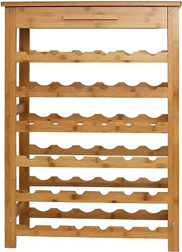 Peach Tree Bamboo Wine Standing Rack Storage