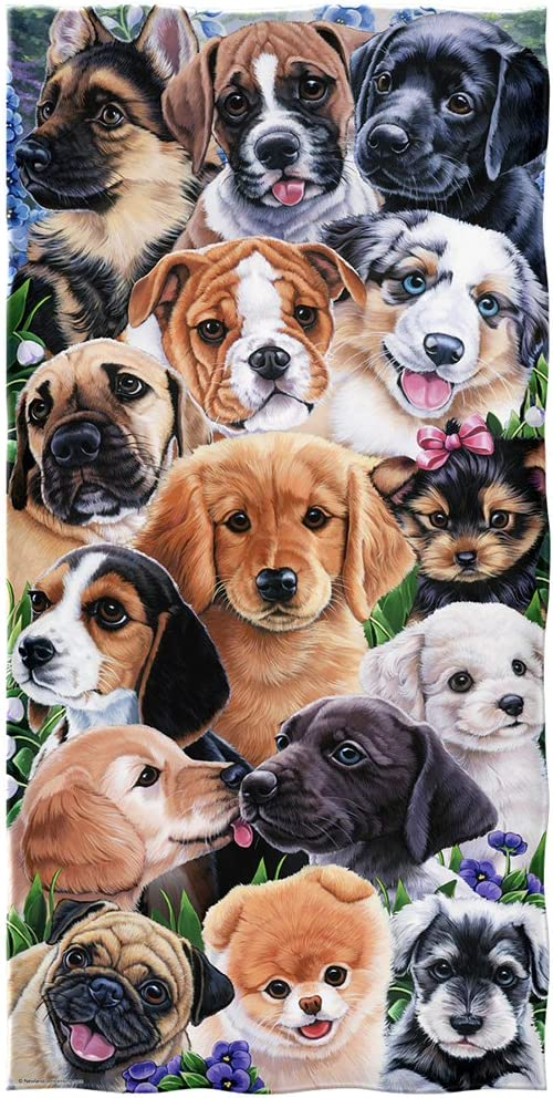 Puppy Collage Pool Towel