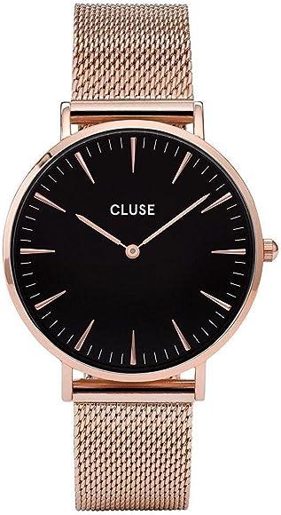 CLUSE RELOJ DE MUJER CUARZO 38MM CORREA DE ACERO CAJA DE METAL CL18113: Amazon.es: Relojes