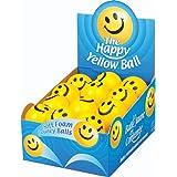 24 x Happy Yellow Balls - Lightweight Foam Stress Balls