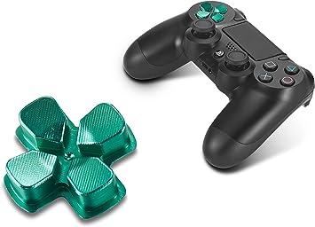 Supremery Playstation 4 DualShock Accesorios de Piezas de Repuesto 4 Botones de Aluminio Botones de Mando D-Pad para PS4 (Verde): Amazon.es: Electrónica