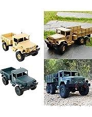 Homyl 1/16 WPL B-1 2.4G 4WD Off-Road RC Army Truck Rock Crawler Car Electric Vehicel Model Toy Xmas Gifts - Army Green