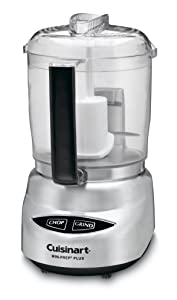 Cuisinart DLC-4CHB Mini-Prep Plus 4-Cup Food Processor, Brushed Stainless Steel (Certified Refurbished)