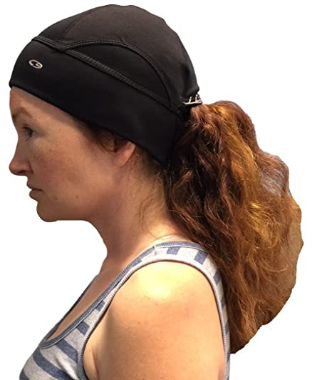 ba025e21e8022 C9 Champion Women s Activewear Ponytail Beanie (Black) at Amazon ...