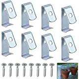 """Sumnacon Flower Pot Clips, Hard Steel Durable Plant Pot Latch Hangers Hook, Holds 5"""" to 8"""" Clay PotS, Terra Cotta Pots with A Lip Around The Edge"""