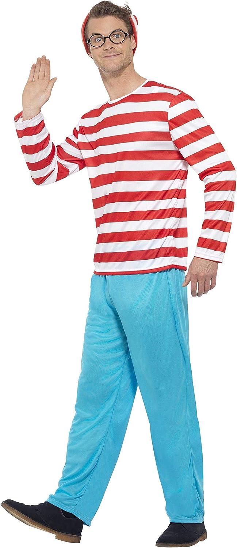 lunettes et chape avec haut pantalon Rouge et blanc Smiffys Licenciado oficialmente O/ù est Charlie/? Costume