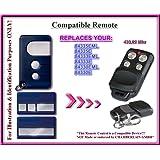Chamberlain 84335EML, 84335E, 84333EML, 84333E, 84330EML, 84330E Compatible Télécommande, 3 canaux 433,92Mhz rolling code remplacement emetteur de haute qualité pour LE MEILLEUR PRIX!!!