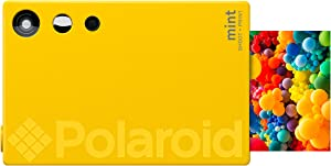 Zink Polaroid Mint Instant Print Digital Camera (Yellow), Prints on Zink 2x3 Sticky-Backed Photo Paper