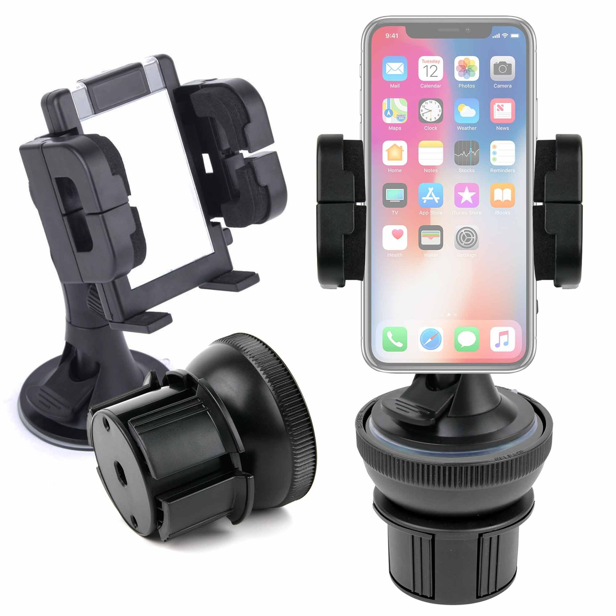 DURAGADGET Anti-Shock/Vibration & Adjustable In Car Cup Holder With 360 Degree Rotation for Apple iPhone X / 8/8 Plus / 7/7 Plus / 6S / 6S Plus / 6/6 Plus/SE / 5S / 5 - by DURAGADGET by DURAGADGET
