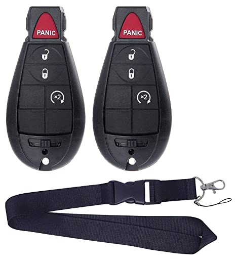Pair New Remote for Dodge RAM 1500 2500 3500 Pickup Remote Start KEYLESS  Remote Key FOB FOBIK NO LANYARDs