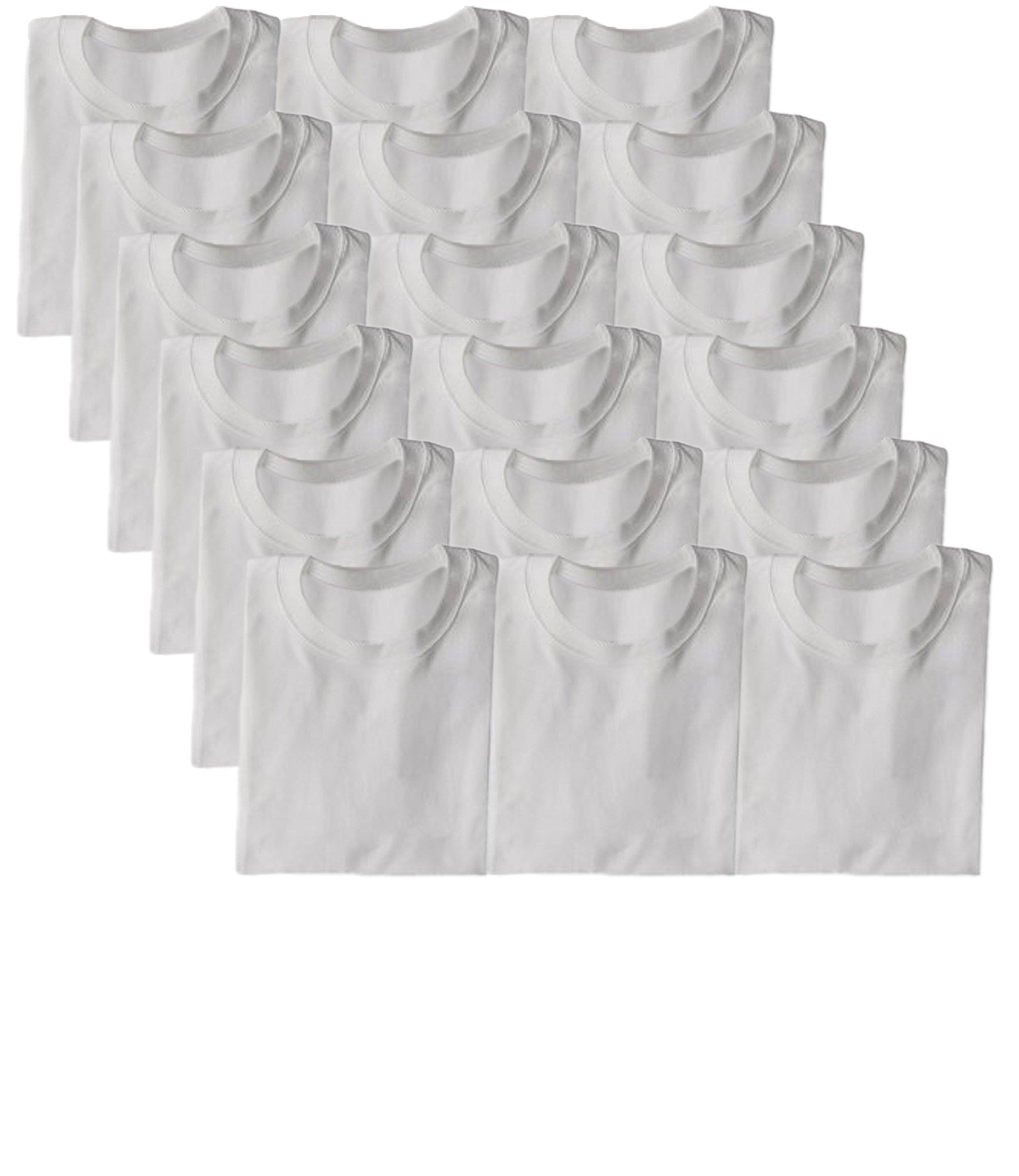 Joseph Abboud Boys Cotton Crew Neck T Shirt Undershirts - Bonus Pack of 18 (18 PK-White, X-Large)