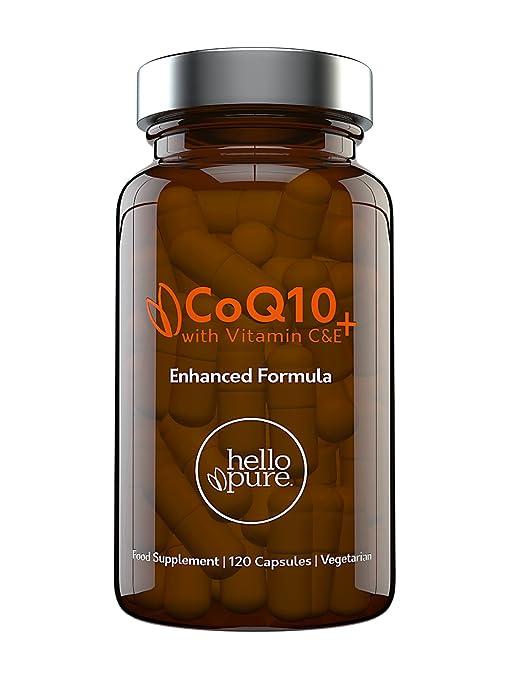 Coenzima Q10 100 mg, 120 cápsulas de alta absorción | CoQ10 de calidad superior con