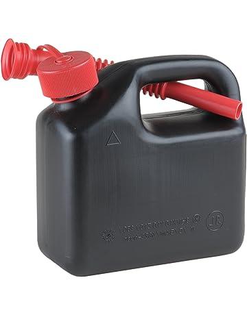 Hünersdorff Bidón para carburante STANDARD 3 L, PEAD Negro, con homologación UN, pitorro