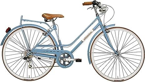 Adriatica - Bicicleta Clasica Mujer Retro Vintage Rondine Azul: Amazon.es: Deportes y aire libre