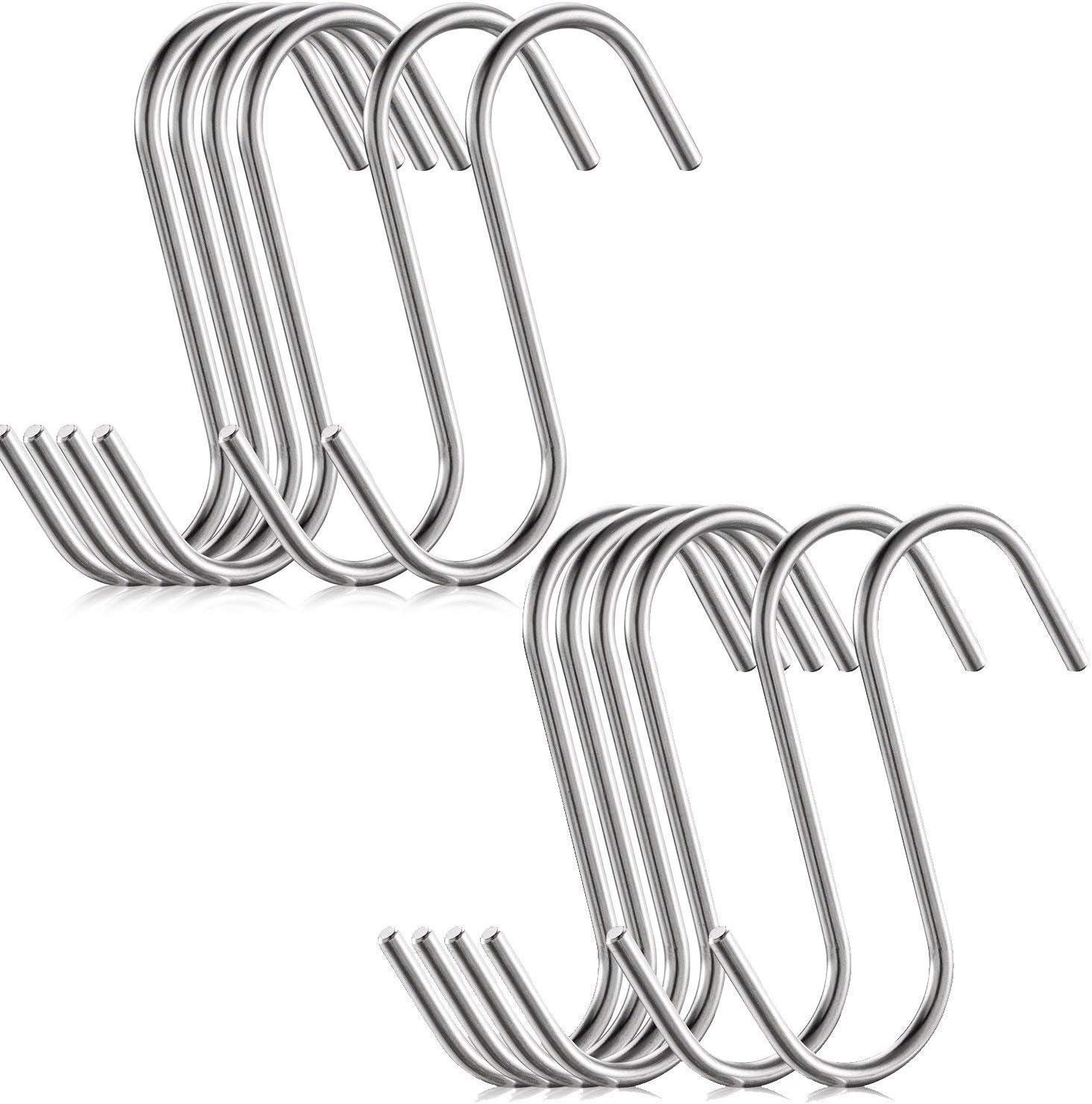 Llavero Cepillo de recogedor YING 10 Unidades Mini Ganchos en Forma de S para Colgar Ganchos cromados para joyer/ía