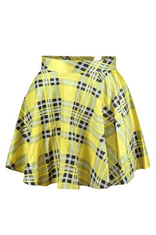 Abby Berny Womens High Waist Flared Pleated Summer Mini Casual Galaxy Skater Skirt