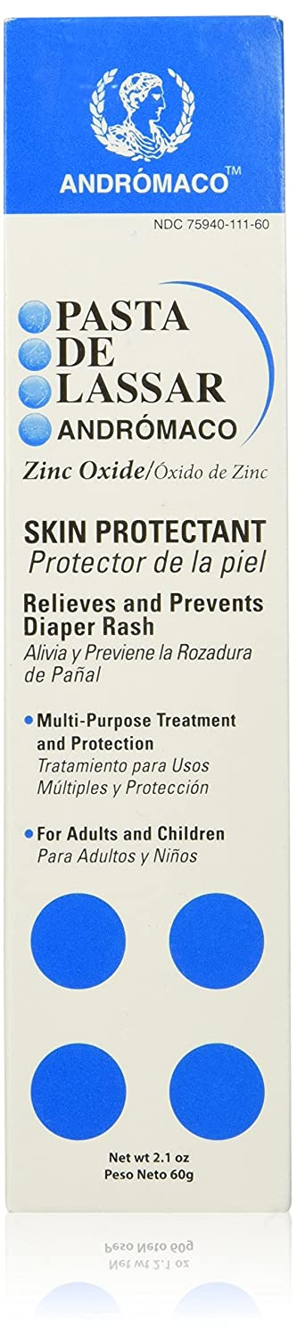 Amazon.com: Pasta De Lassar Andromaco Multi-purpose zinc oxide skin protectant Diaper Rash -Poison Ivy - 2.1 Oz Skin Care: Beauty