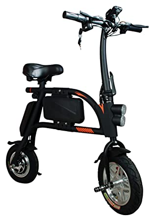 SABWAY® Bicicleta Eléctrica Plegable 400W Scooter Mini E-Bike Negra - Vehículo Eléctrico Movilidad