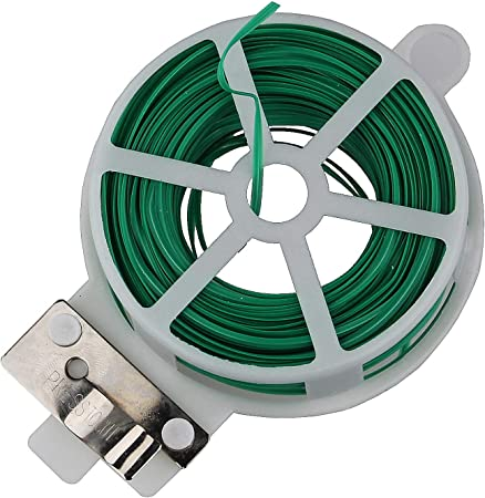 GK K&G GP02205 - Alambre para jardín (2 Unidades, 60 m, Bobina y cúter), Color Verde: Amazon.es: Hogar