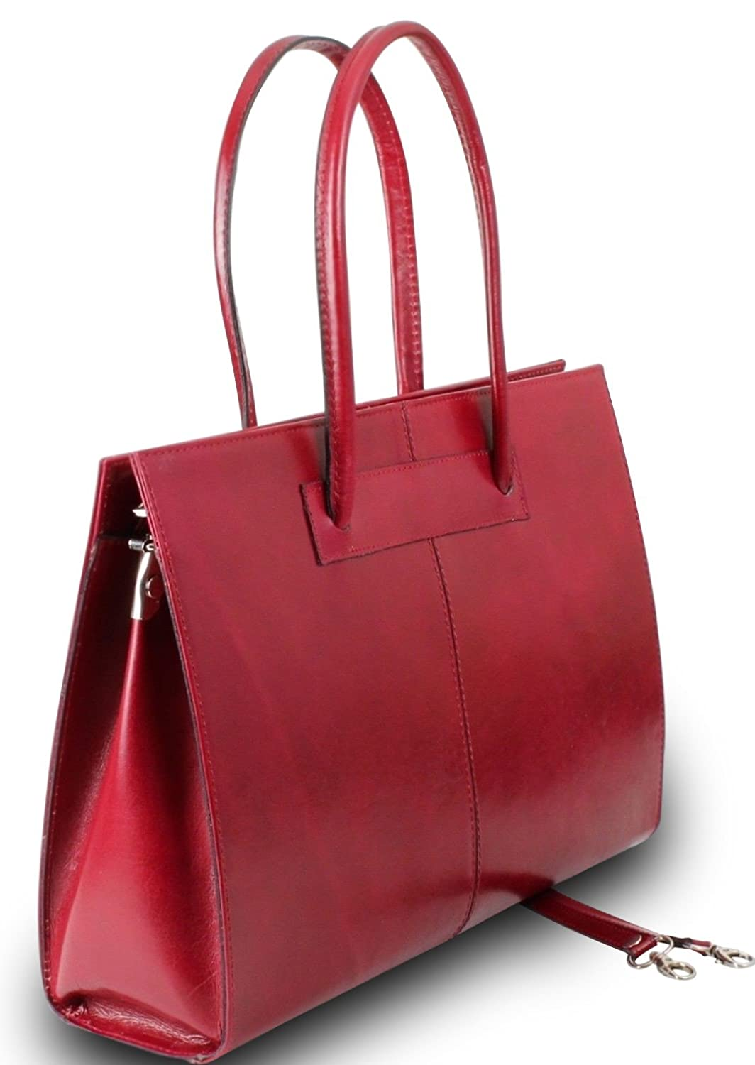 Made In Italy Luxury Handbag It Bag Genuine Leather Women's Shoulder Bag Red