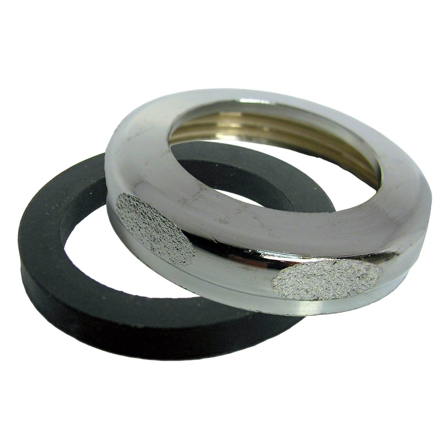 LASCO 03-1865 Reducing Slip Joint Nut with Washer, 1 1/2-Inch x 1 1/4-Inch, Chrome Plated Brass