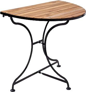 Butlers Parklife Balkon Klapptisch Halbrund Aus Holz 85x55x75 Cm