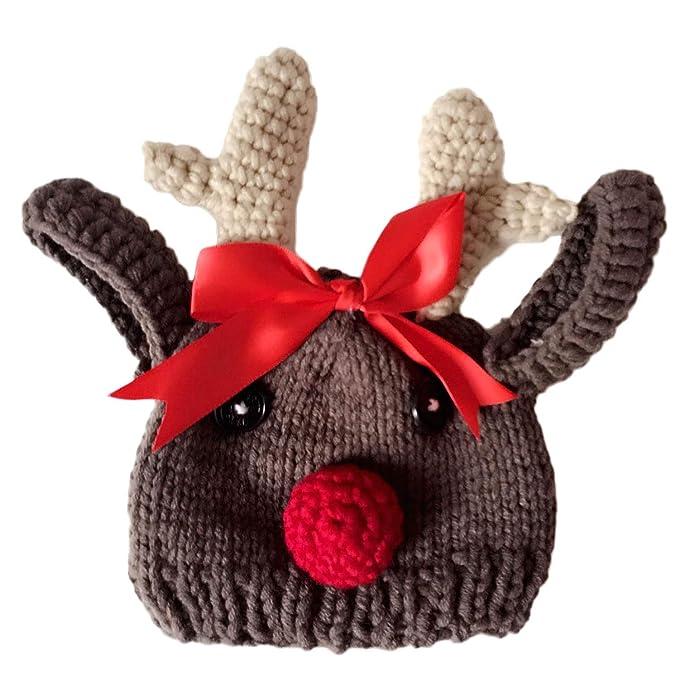 Vococal Lindo Reno de Navidad Bebé Infantil de Punto Crochet ...