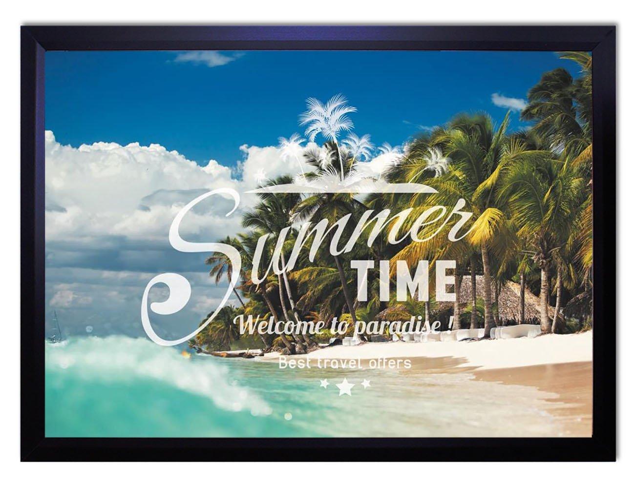 【DXポスター】海のポスター フレーム付きタイポグラフィ サーフ ハワイ 西海岸 リゾート モダン 現代アートP-A2-GLT-1604-0068-wh P-A2-GLT-1604-0068-wh B073SHB22B A2サイズ(59.4cm×42cm)+ホワイトフレーム A2サイズ(59.4cm×42cm)+ホワイトフレーム