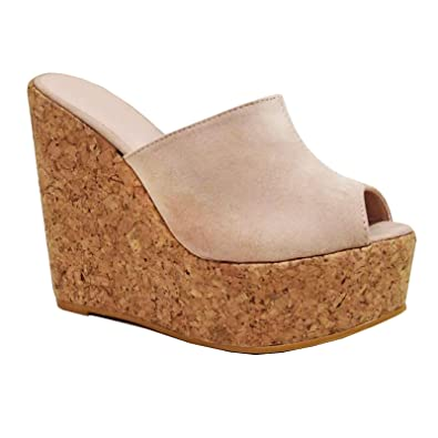 taglia 40 bel design vendita calda online Toocool - Scarpe Donna Zeppe Zeppa zatteroni Scamosciati Sughero Tacchi  Alti Plateau CA128