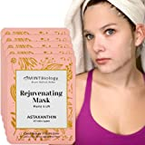 Luscious Korean Face Mask - K Beauty Collagen Facial Sheet Mask with Astaxanthin for Instant Luminous Brightening & Hydrating Skin Care Facemask - Get your Radiant Silky Smooth Skin NOW