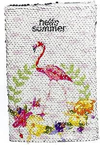 A5 Notebook Color Reversible Magic Sequin Flamingo Diary Notebook