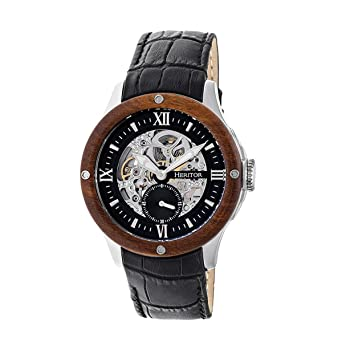 Heritor hr3902 Montclair Mens Reloj, Negro
