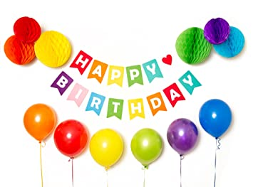 Amazoncom Happy Birthday Banner Birthday Decorations Colorful
