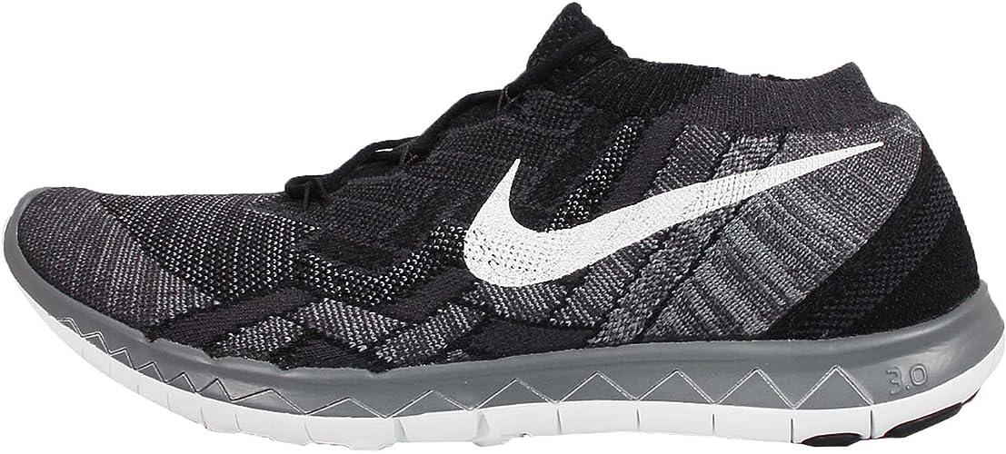 Nike Free 3.0 Flyknit, Chaussures de Running Hommes Noir