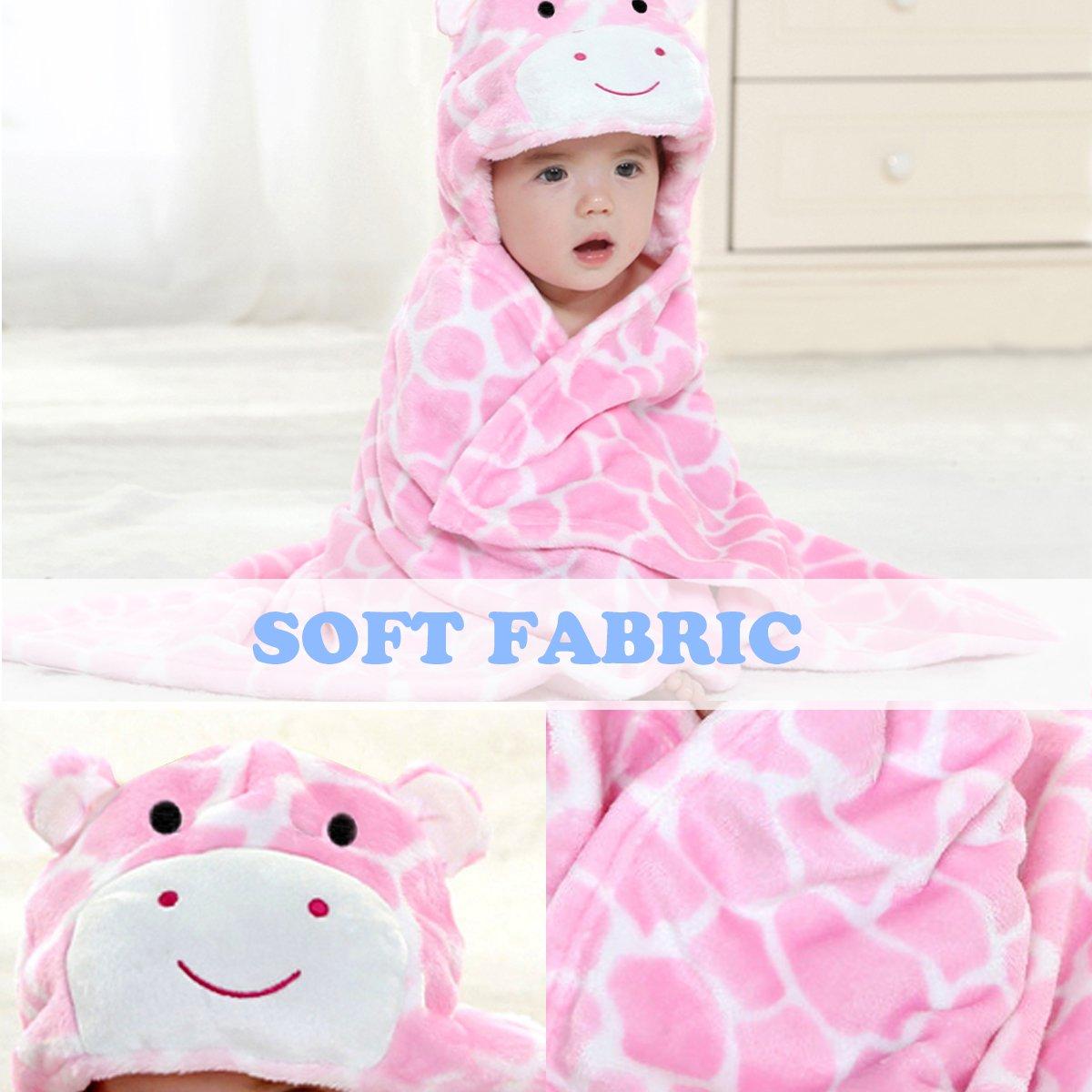 toalla de ba/ño con capucha Mture poncho de microfibra,/c/álido y c/ómodo rosa rosa Talla:Bademantel Rosa Albornoz manta para beb/é