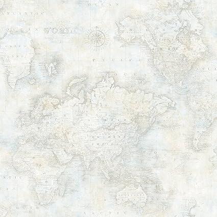 Chesapeake DLR47544 Hardings Grey World Map Wallpaper, Wallpaper ...