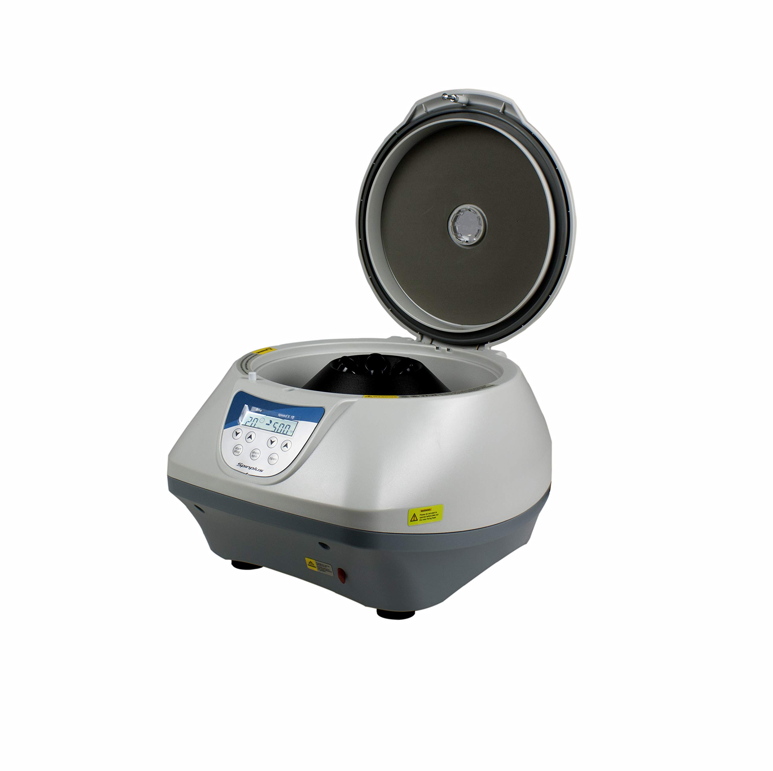Vision Scientific VS-TC-SPINPLUS-6-1 Digital Desktop Centrifuge with 3074 RCF, 100-5000 RPM, LCD Display, Includes 15ML X 6 Rotor