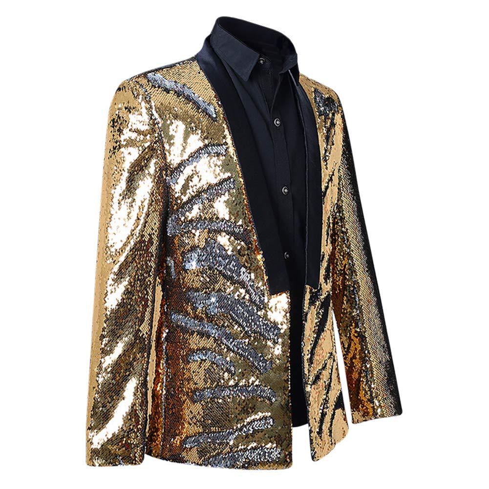 Allthemen Mens Suits Slim Fit Blazer Shiny Shawl Lapel Dress Suit Jacket Party Prom Clubwear Halloween//Cosplay Tuxedo Jackets Blazers