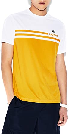 Lacoste Camiseta TH3342 Amarilla/Blanca 8: Amazon.es: Ropa