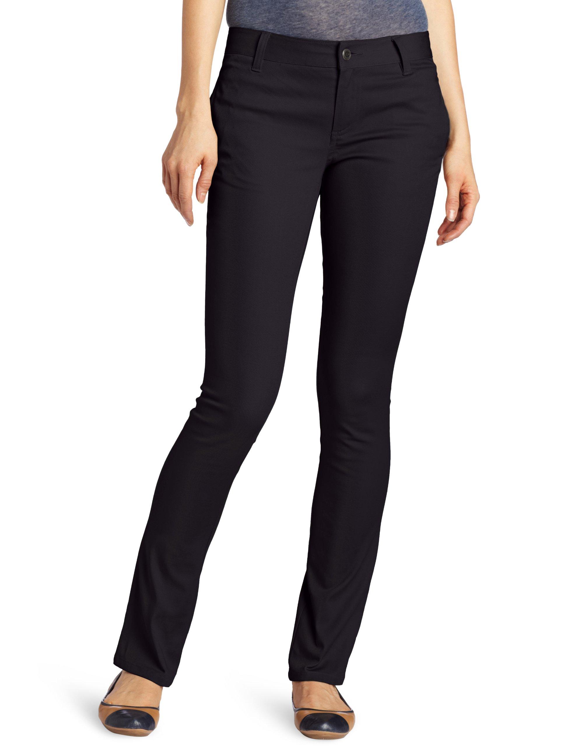 LEE Uniforms Juniors Original Skinny Leg Pant, Black, 15