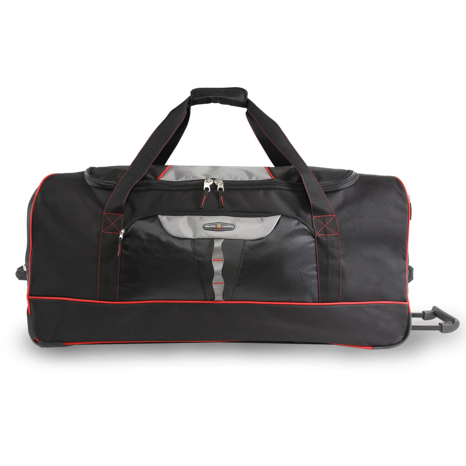 Pacific Coast 35'' Extra Large Rolling Duffel Bag, Black, One Size