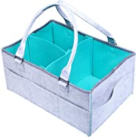 Baby Diaper Caddy Organizer for Boys and Girls, Nursery Storage Bin for Changing Table, Newborn Registry Must Have…