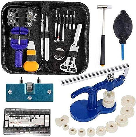 Kit de herramientas de reparación de relojes - Reloj manual del nuevo titular de caja Abridor de enlace removedor: Amazon.es: Relojes