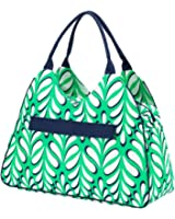 2017 High Fashion Print Water Resistant Large Beach Bag Tote with Zipper Top