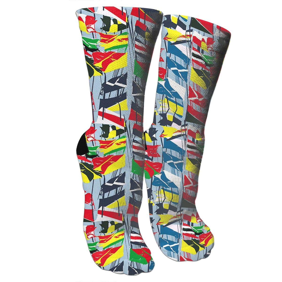 Flag Background PictureCrazy Socks Casual Cotton Crew Socks Cute Funny Sock Great For Sports And Hiking