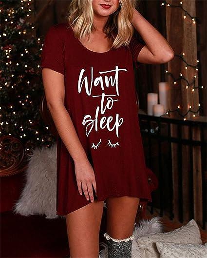 Amazon.com: Eloise Isabel Fashion Mulheres vestidos vermelhos querem dormir imprimir summer dress moda curto frente longa voltar manga curta soltas dress: ...