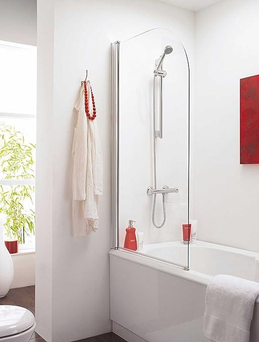 VeeBath Jade contemporáneo recto 6 mm mampara de baño 800 x 1400 ...