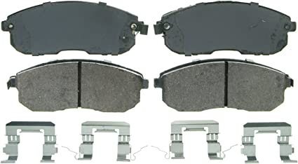 Wagner QuickStop ZD1444 Ceramic Disc Pad Set Includes Pad Installation Hardware Front