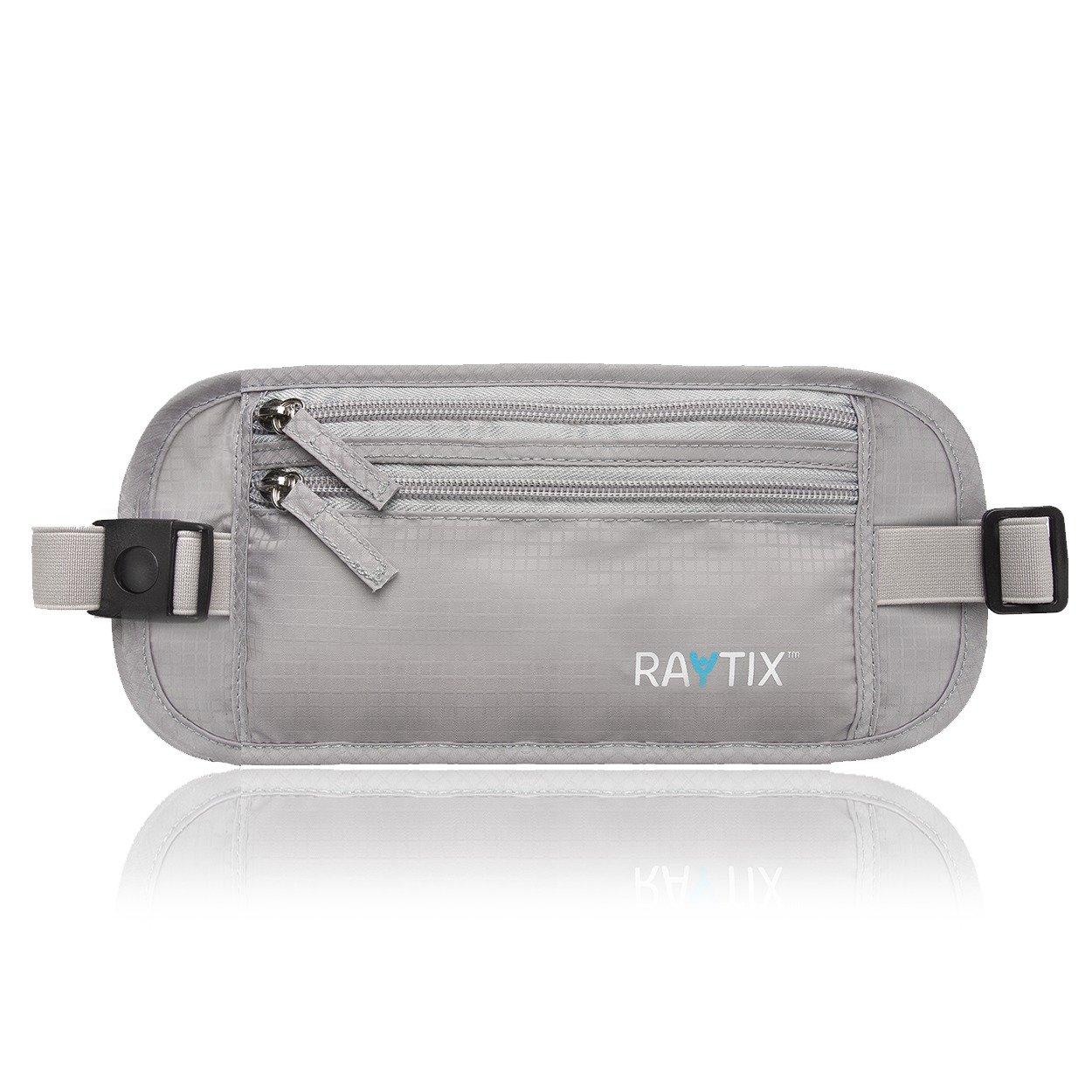 Travel Money Belt: Safe, Well Designed & Comfortable Money Carrier For Travelling & More - Blocks RFID Transmissions – Secure, Hidden Travel Wallet With Adjustable Straps, Lightweight & Thin (GRAY) by Raytix